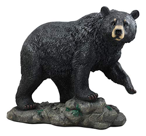 Ebros Large Realistic Strolling Black Bear Statue 16.5