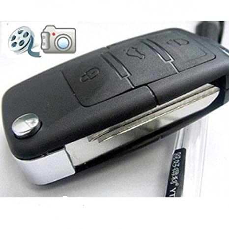 BoddBan - Cámara espía en forma de llavero mando de coche, con sensor de movimientos