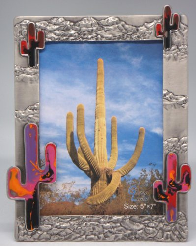 5×7 Cactus - Grand Canyon w/Multicolor Epoxy Inlay