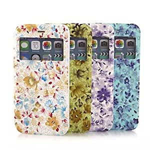YULIN 4.7 Inch Colored Drawing Pattern PU Wallet Leather Case with Window for iPhone 6(Assorted Colors) , Blue