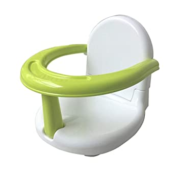 Green Foldable Baby Bath Seat Baby Bathtub Seat Baby Chair Seat with Backrest Support Anti Slip Practice Sitting Eating Seat for Newborn Infant Toddler