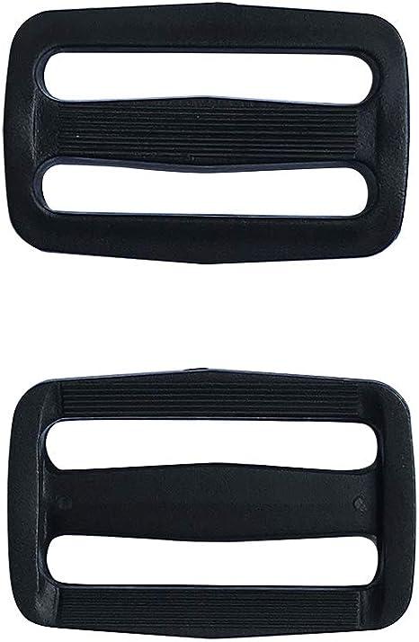 Multi-Size Straps Webbing Slide Triglides Slide Plastic Slide Buckle for Backpack Bag,1 1//5 inch,Q2007