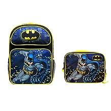 "DC Batman 16"" Large Backpack Plus Matching Lunch Bag"