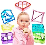 Fellibay Sandwich Cutter Cookie Cutters Bread Crust Cutters Fancy DIY Vegetable Cutters Maker Mould for Fun Cookie Butterfly, Dinosaur, Dog, Elephant, Heart, Puzzle and Star