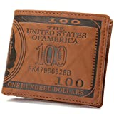 OURBAG US Dollar Bill Leather Bi-fold Card Holder Wallet
