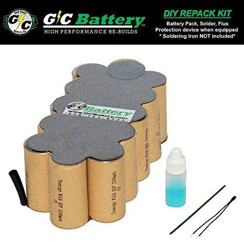 G/C Battery Co. Compatible 2.2Ah NiCd DIY REPACK KIT for Craftsman 18V 315.110340 Battery