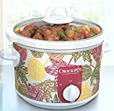 Autumn Leaves Classic Crock Pot Slow Cooker 2.5 Quart