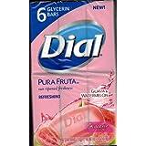 Dial Pura Fruta Guava & Watermelon Glycerin Soap, 4 Oz Bars, 6 Count - 2 Pack (12 Bars Total)