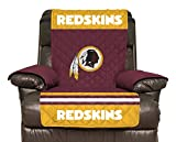 NFL Washington Redskins Recliner Reversible Furniture Protector with Elastic Straps, 80-inches by 65-inches