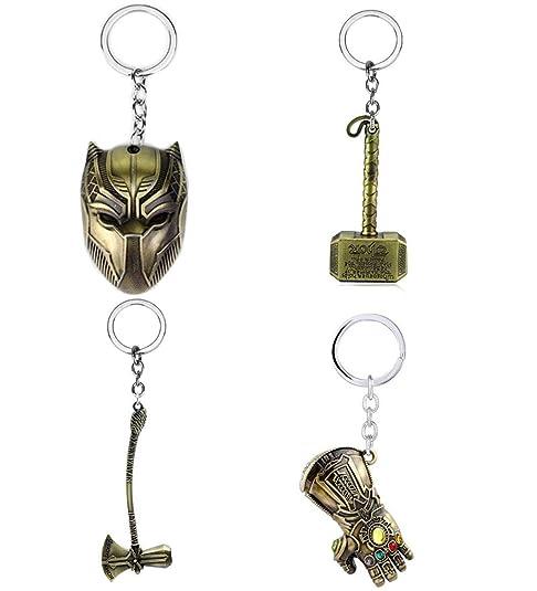 Imcneal Llavero de metal con diseño de Thor Hammer Thanos ...