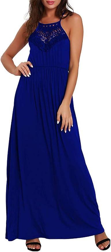 TWIFER sukienka damska, bez rękawÓw, szyfonowa, na lato, bal absolwentÓw, imprezę, sukienka maxi: Odzież