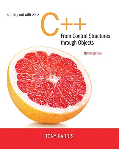 Starting Out with C++ from Control Structures to Objects (9th Edition) cover