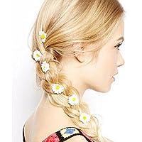 Fashion Flower Daisy Hair Clip Hairpin Accessories Slide hot White 6PCS