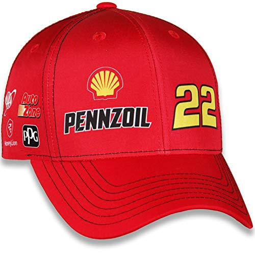 Checkered Flag Joey Logano 2019 Shell Pennzoil Uniform NASCAR Hat Red (Kevin Harvick Shell Racing)