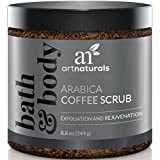 ArtNaturals Organic Coffee Body Scrub - 8.8 oz / 260 ml - for Body and Face - for Varicose Veins, Cellulite, Stretch Marks, Eczema and Acne - Arabica Deep Skin Exfoliator