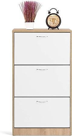 ESTILO: Zapatero de 3 puertas, elegante y minimalista, perfecto para cualquier habitación de tu casa