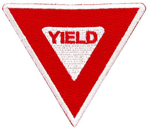 Yield Sign Embroidered Patch Iron-On Highway Road Biker Emblem