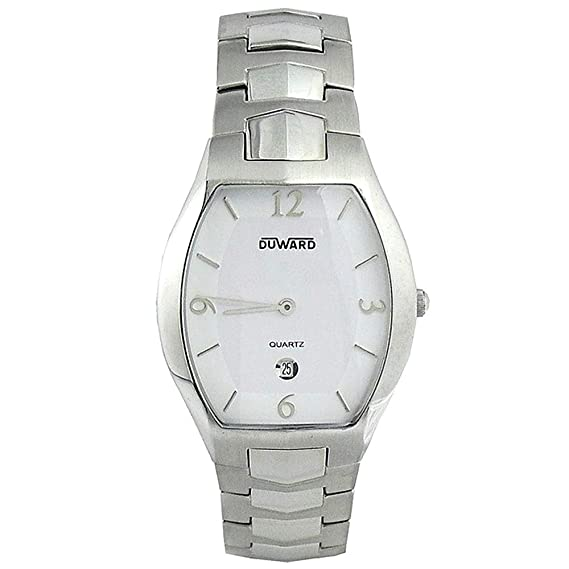 DUWARD Reloj para Hombre Analógica Cuarzo con Correa de Acero Inoxidable D9402911: Amazon.es: Relojes