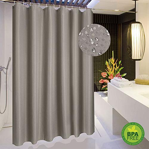 (Magnificentex Fabric Shower Curtain for Bathroom, Waffle Weave Bath Shower Curtain with Buttonholes, Hotel Quality, Waterproof, Machine Washable (Chocolate Brown, 70