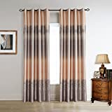 Color Block Curtains Cherry HomeMaple Trees Print Blackout Curtains 2 Panles 52