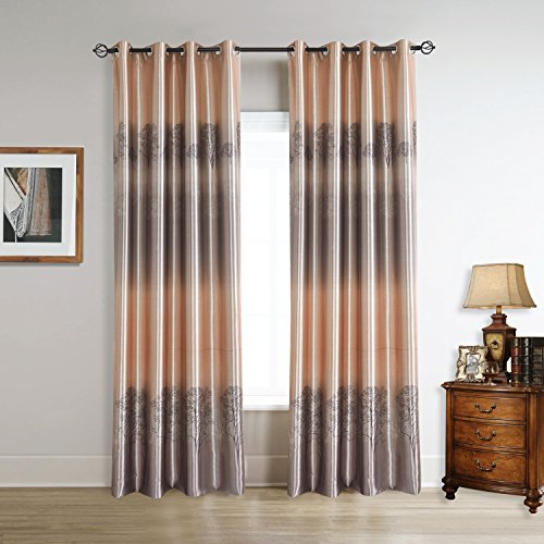 Cherry HomeMaple Trees Print Blackout Curtains 2 Panles 52