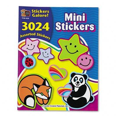 Teacher Created Resources 4228 Teacher Created Resources Sticker Books, Mini Stickers, 3,024 Stickers/pack