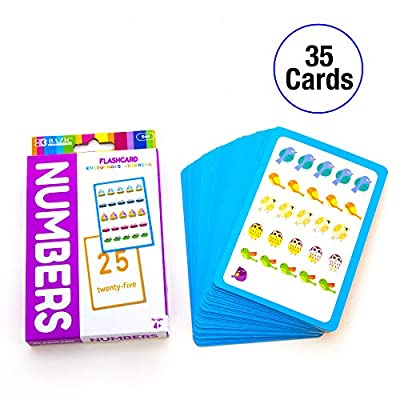 BAZIC Numbers Flash Cards, Picture Abc's, Letters, Matching, Number Preschool Math Card Game Education Training Learning Practice Smart Great for Kids Kindergarten Activities (36/Pack) (Box of 24): Office Products