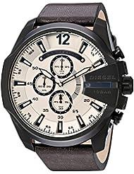 Diesel Mens DZ4422 Mega Chief Brown Leather Watch