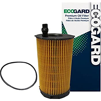 ECOGARD X5843 Cartridge Engine Oil Filter for Conventional Oil - Premium Replacement Fits Audi A8 Quattro, S5, Q7, R8, RS5, A6 Quattro, RS4, S6, ...