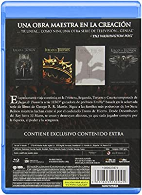 Pack Juego De Tronos - Temporadas 1-4 [Blu-ray]: Amazon.es: Peter ...