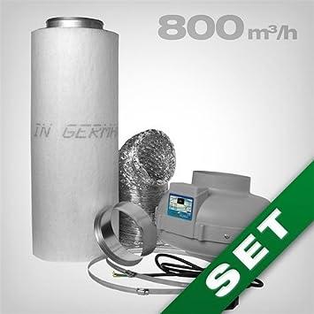 prima klima ventilateur extracteur 6 420800 m3h kit complet de contrle des odeurs avec filtre charbon idal pour les chambres box de culture - Boxe De Culture Maison