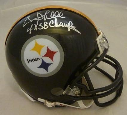 edd1228f561 Amazon.com  Donnie Shell Autographed Pittsburgh Steelers Mini Helmet JSA   Sports Collectibles