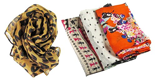 HipGirl Boutique Womens Girls Shawl Scarf Fashion Scarves Accessories (4pc 66