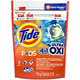 Tide Pods Ultra Oxi Liquid Detergent Pacs, 26 Count (Packaging May Vary)