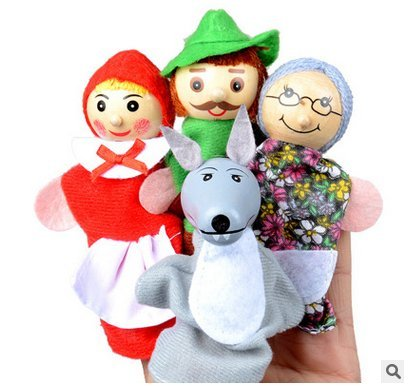 Newin Star Set Di 4 Marionette Da Dita Con I Personaggi Di