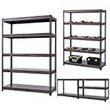 5 Level Garage Shelf Storage Adjustable Weight Up to 3100LB 72''x48''
