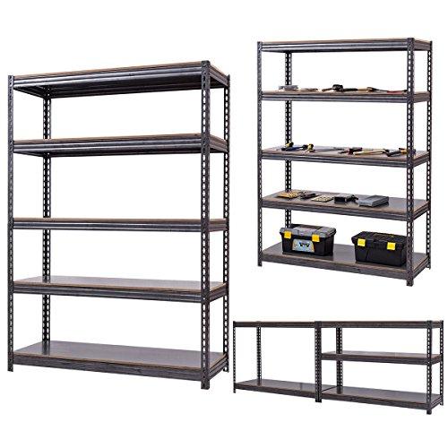 5 Level Garage Shelf Storage Adjustable Weight Up To 3100LB 72u0027u0027x48u0027u0027