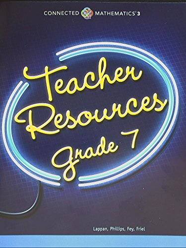 Connected Mathematics 3. Teacher Resources Grade 7, for 8 Units. 9780133274264, 0133274268.