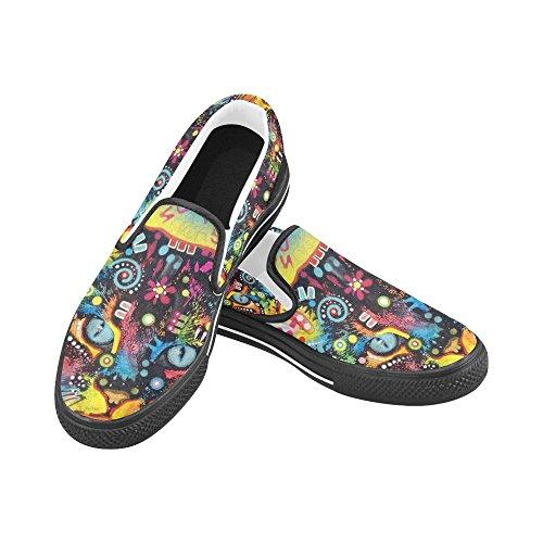 Unique Debora Customize Fashion Mujeres Sneakers Inusual Mocasines Slip-on Canvas Zapatos Multicoloured53