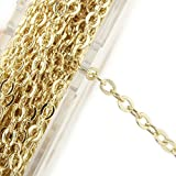 33 Feet Dainty Gold Plated Solid Brass Cable Chain