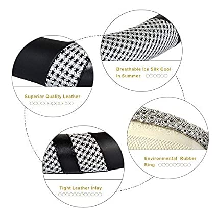 BOKIN Steering Wheel Cover Universal 15 Inches Odorless Warm in Winter and Cool in Summer Anti-Slip Breathable Microfiber Leather and Viscose