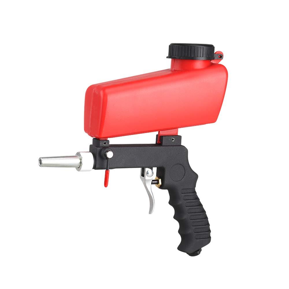 Massun Sandblasting Gun Gravity Feed Sandblast Gun Sandblast Gun Suitable for Iron, Glass & Mirror Etching, Steel, and All Types of Metals