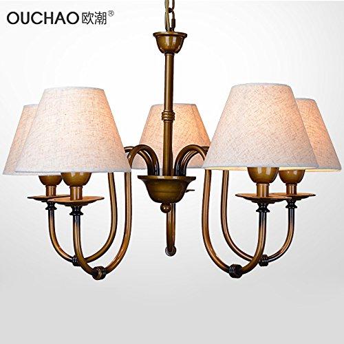@ North American IKEA Kaufmann Jardín Candelabro Hierro Toalla Fácil 5 cabezales Hängende lámpara dormitorio salón comedor iluminación: Amazon.es: ...