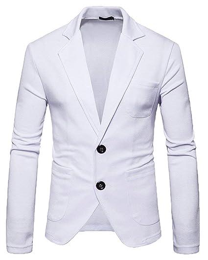 Lanceyy Blazer Homme Coupe Slim Veste Blazer Costume Décontractée Style  Simple Loisirs Outwear Loisirs Homme Vestes 2 Boutons  Amazon.fr  Vêtements  et ... d26b6ede9eb