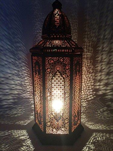 Orientales Marroquíes Árabe Mediterráneos Marruecos Farole Té luz Yagmur Faroles de Jardín Faroles de Hierro para Velas: Amazon.es: Iluminación