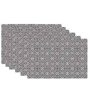 Set de Table Design Carreaux de Ciment en Vinyle - Set de 6: Amazon ...