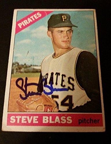 Steve Blass Pirates 1966 Topps #344 Blue Ink Authentic Signed Autograph JG2