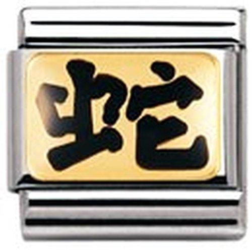 Nomination - 030227 - Maillon pour bracelet composable - Femme - Signe astrologique chinois - Acier inoxydable et Or jaune 18 cts