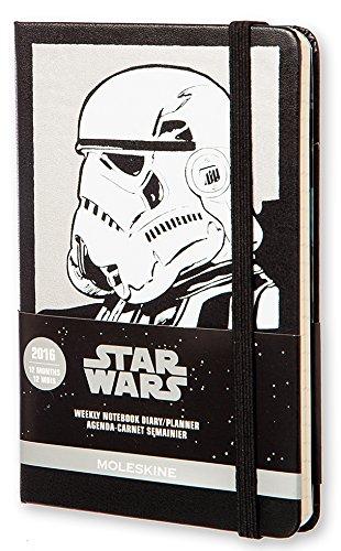 Moleskine Star Wars - Agenda semanal 2016, 12 meses, tamaño bolsillo, color negro