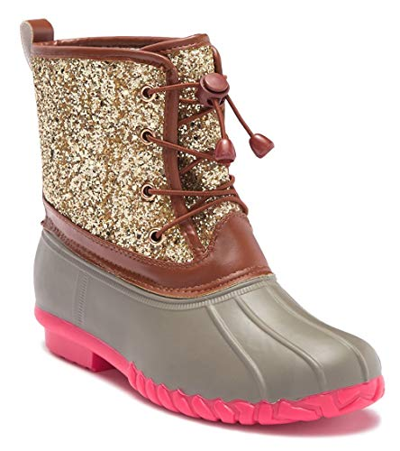 Botique Girls Duck Boot with Glitter (10, Pink) ()